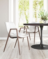 Zuo Modern Desi Dining Chair White Set of 2