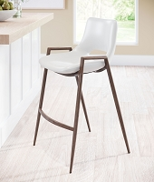 Zuo Modern Desi Counter Chair White Set of 2