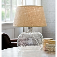 Regina Andrew Seeded Oval Glass Table Lamp
