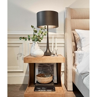 Regina Andrew Trilogy Table Lamp Black Iron External