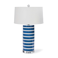 Regina Andrew Striped Ceramic Column Table Lamp