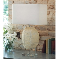 Regina Andrew Turtle Shell Exhibit Table Lamp Bleached