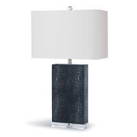 Marcel Table Lamp Charcoal Shagreen | Regina Andrew