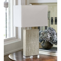Marcel Table Lamp Ivory Shagreen | Regina Andrew