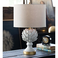 Regina Andrew Leafy Artichoke Ceramic Table Lamp Off White