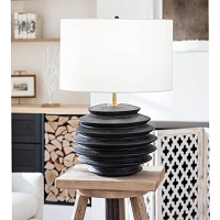 Accordion Table Lamp Round in Ebony | Coastal Living