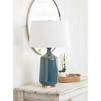 Glace Ceramic Table Lamp Blue | Regina Andrew