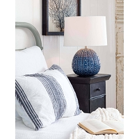 Sanibel Ceramic Table Lamp in Blue | Coastal Living