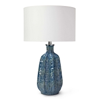 Antigua Ceramic Table Lamp Blue | Regina Andrew