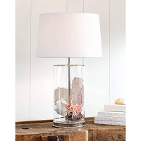 Magelian Glass Table Lamp in Polished Nickel | Coastal Living
