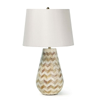 Regina Andrew Cassia Chevron Table Lamp Natural