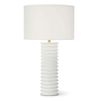 Regina Andrew Nabu Metal Column Table Lamp White