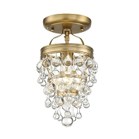 Calypso 1-Light Vibrant Gold Ceiling Mount | Crystorama