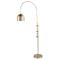 Arc Floor Lamp With Metal Shade Natural Brass | Regina Andrew