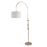 Arc Floor Lamp Fabric Shade Natural Brass | Regina Andrew