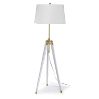 Regina Andrew Brigitte Floor Lamp Natural Brass