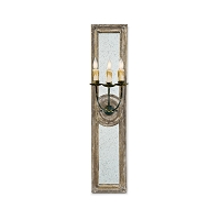 Regina Andrew Three Arm Mirror Panel Sconce Small