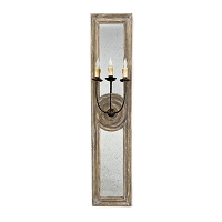 Regina Andrew Three Arm Mirror Panel Sconce Large