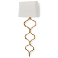Regina Andrew Sinuous Sconce Gold Leaf