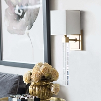 Regina Andrew Highball Sconce Large Natural Brass