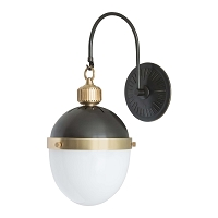 Regina Andrew Otis Sconce Blackened Brass and Natural Brass