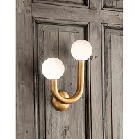 Happy Sconce Right Side Natural Brass | Regina Andrew