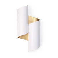 Folio Sconce White Gold | Regina Andrew