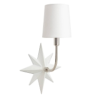 Etoile Sconce in Polished Nickel and White | Coastal Living