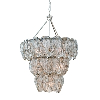 Regina Andrew Glass Leaves Chandelier Silver