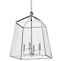 Cachet Lantern in Polished Nickel | Coastal Living