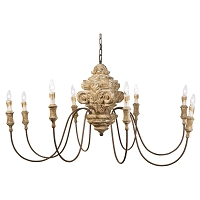 Wood Carved Chandelier | Regina Andrew