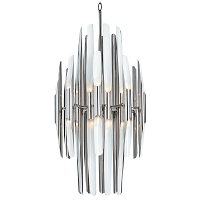 Redford Chandelier Polished Nickel Ivory | Regina Andrew