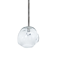 Molten Pendant Large Clear Glass Polished Nickel | Regina Andrew