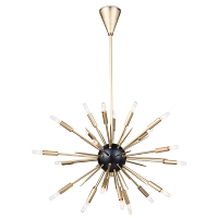 Regina Andrew Nebula Chandelier Small Black and Natural Brass