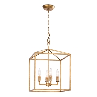 Regina Andrew Cape Lantern Small Antique Gold Leaf
