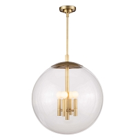Regina Andrew Cafe Pendant Large Natural Brass