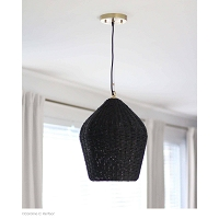 Georgian Pendant in Black | Coastal Living