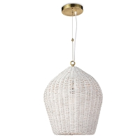 Georgian Pendant in White | Coastal Living
