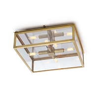 Ritz Flush Mount Natural Brass | Regina Andrew