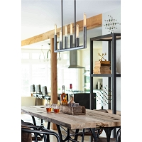 Wolfe Linear Chandelier Oil Rubbed Bronze | Regina Andrew