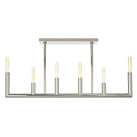 Wolfe Linear Chandelier Polished Nickel | Regina Andrew