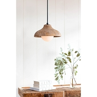 Surfside Wood Pendant in Natural | Coastal Living