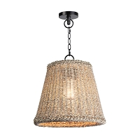 Augustine Outdoor Pendant Small in Weathered White | Coastal Living
