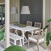 Augustine Outdoor Pendant Large in Weathered White | Coastal Living