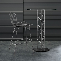 Zuo Modern Wire Bar Chair Chrome Set of 2