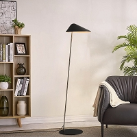 Ibis Floor Lamp Satin Nickel | Nova