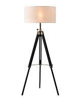 Surveyor Tripod Floor Lamp Matte Black | Nova