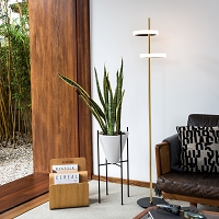 Aerial Floor Lamp Weathered Brass | Nova