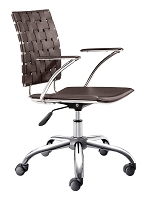 Criss Cross Office Chair in Espresso | Zuo