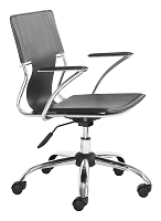 Trafico Office Chair in Black | Zuo